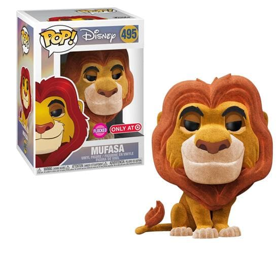 Disney's The Lion King: Flocked Mufasa #495 Funko Pop! Vinyl & T-Shirt Bundle (Target)