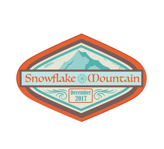 Snowflake Mountain Sticker (Disney Treasures)