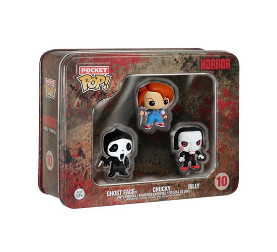 Funko Horror Pocket Pop! Vinyl 3-Pack Tin (Ghostface, Chucky & Billy)