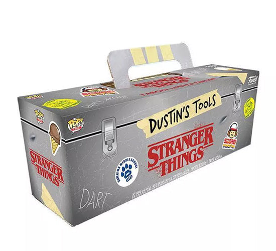 Stranger Things Toolbox - Dustin #828 Funko Pop! Vinyl & T-Shirt Bundle (Target Exclusive)