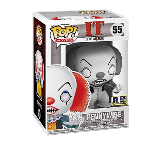 It (1990) - Black and White Pennywise #55 Funko Pop! Vinyl (2018 Rhode Island Comic Con)