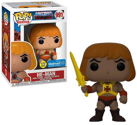 Masters of the Universe: He-Man #991 Funko Pop! Vinyl + Pop! Tee Bundle (Walmart Exclusive)
