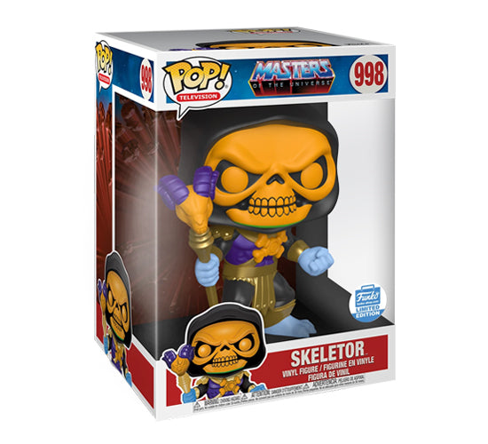 "Masters of the Universe - 10"" Inch Black Hood Skeletor #998 (Funko Shop Exclusive) Funko Pop! Vinyl"