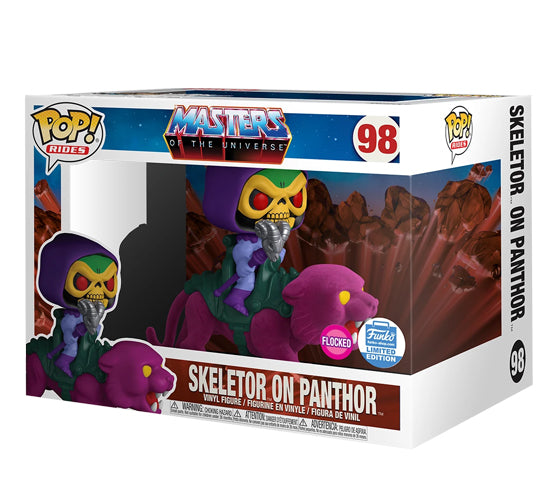 Masters of the Universe - Skeletor on Panthor #98 (Flocked, Funko Shop Limited Edition) Funko Pop! Vinyl Ride