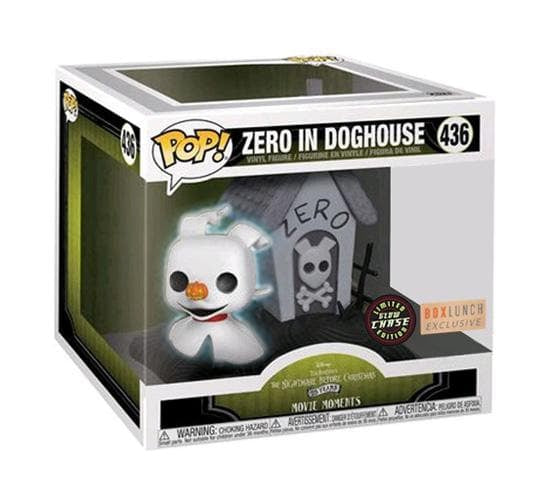 The Nightmare Before Christmas - Zero in Doghouse #436 (GITD Chase - BoxLunch) Funko Pop! Movie Moments