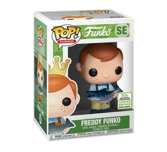 Freddy Funko w/Fish (ECCC 2019) Funko Pop! Vinyl