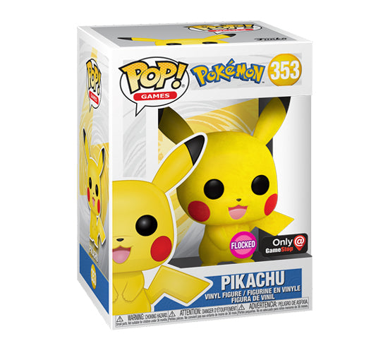 Pop! Games - Flocked Pikachu #353 (GameStop Exclusive) Funko Pop! Vinyl