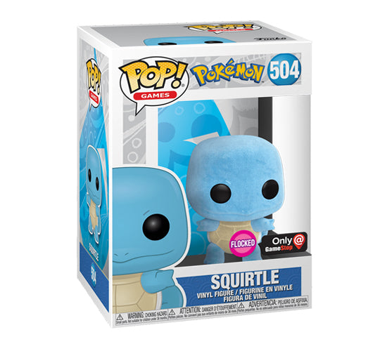 Pop! Games - Flocked Squirtle #504 (GameStop Exclusive) Funko Pop! Vinyl