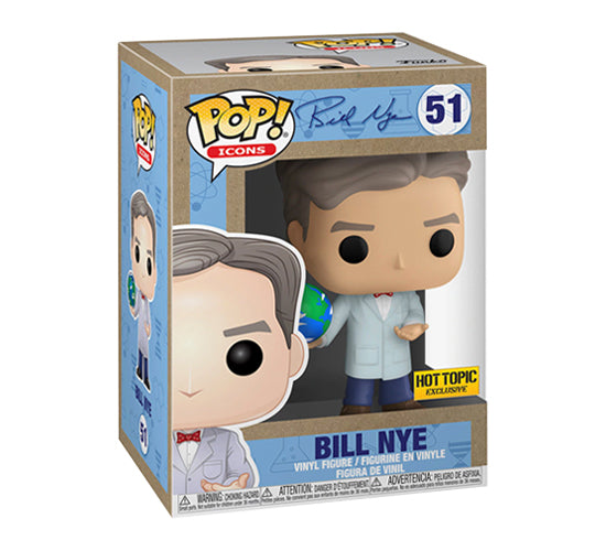 Pop! Icons - Earth Day Bill Nye #51 (Hot Topic Exclusive) Funko Pop! Vinyl