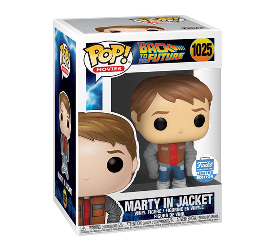 Pop! Movies Back to the Future - Marty in Jacket #1025 (Funko Shop Exclusive) Funko Pop! Vinyl