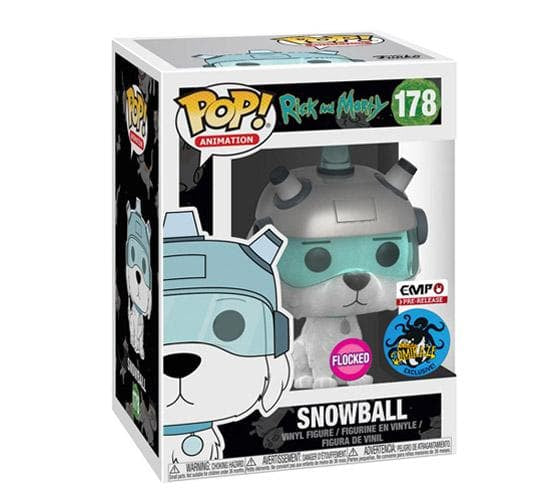 Rick and Morty - Flocked Snowball #178 (LA Comic Con) Funko Pop! Vinyl