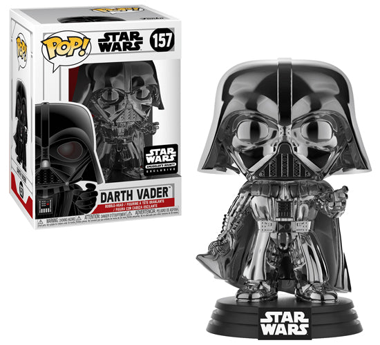 Star Wars Smuggler's Bounty - Black Chrome Darth Vader #157 Funko Pop! Vinyl