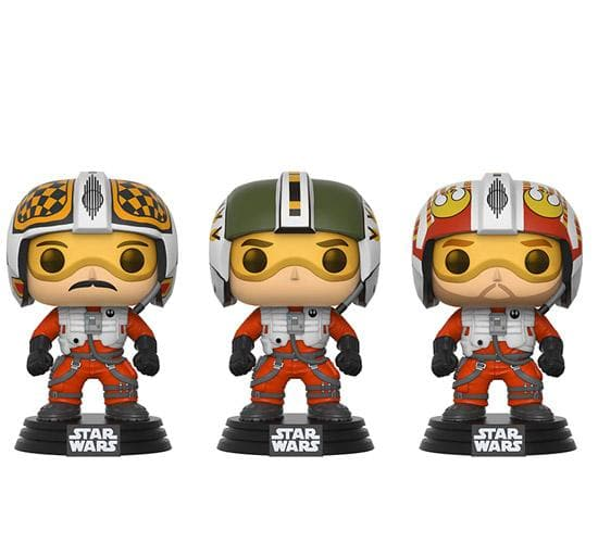 Star Wars - X-Wing Pilots 3-Pack (Walmart) Funko Pop! Vinyl