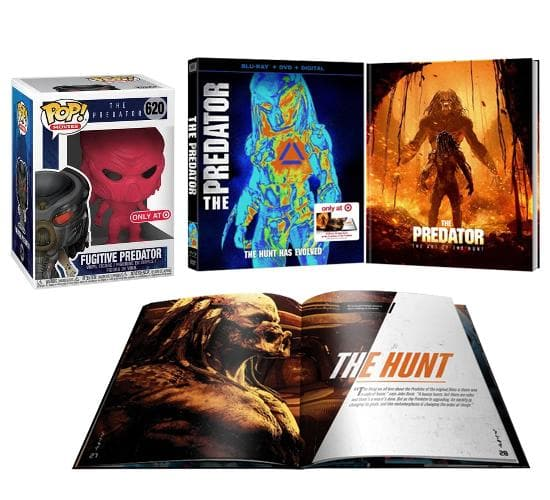 The Predator (2018) Blu-ray & Fugitive Predator #620 Funko Pop! Vinyl Bundle (Target Redcard Exclusive)