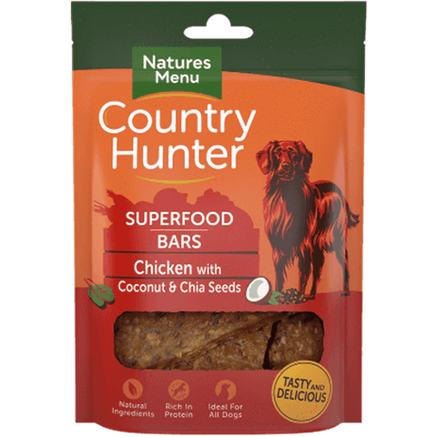 Natures Menu Superfood Bars Chicken with Coconut & Chia Seeds