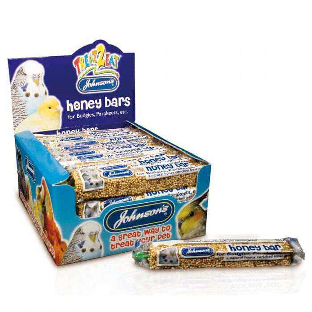 Johnson's Honey Bar For Budgies And Parakeets 35g-Bird Treats-Johnson's-Dofos Pet Centre