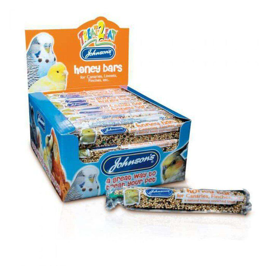 Johnson's Honey Bar For Canaries 35g-Bird Treats-Johnson's-Dofos Pet Centre
