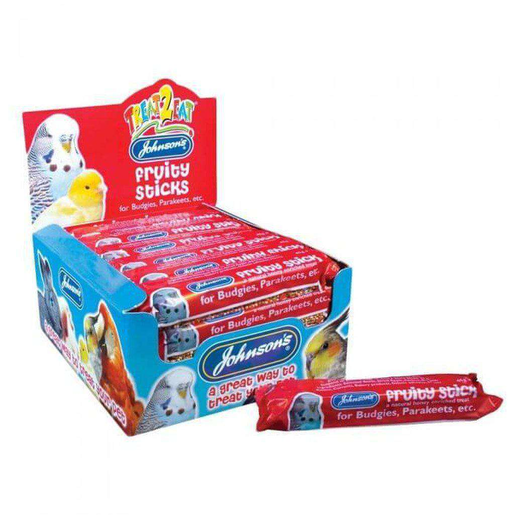 Johnson's Fruity Stick For Budgies And Cockatiels 45g-Bird Treats-Johnson's-Dofos Pet Centre