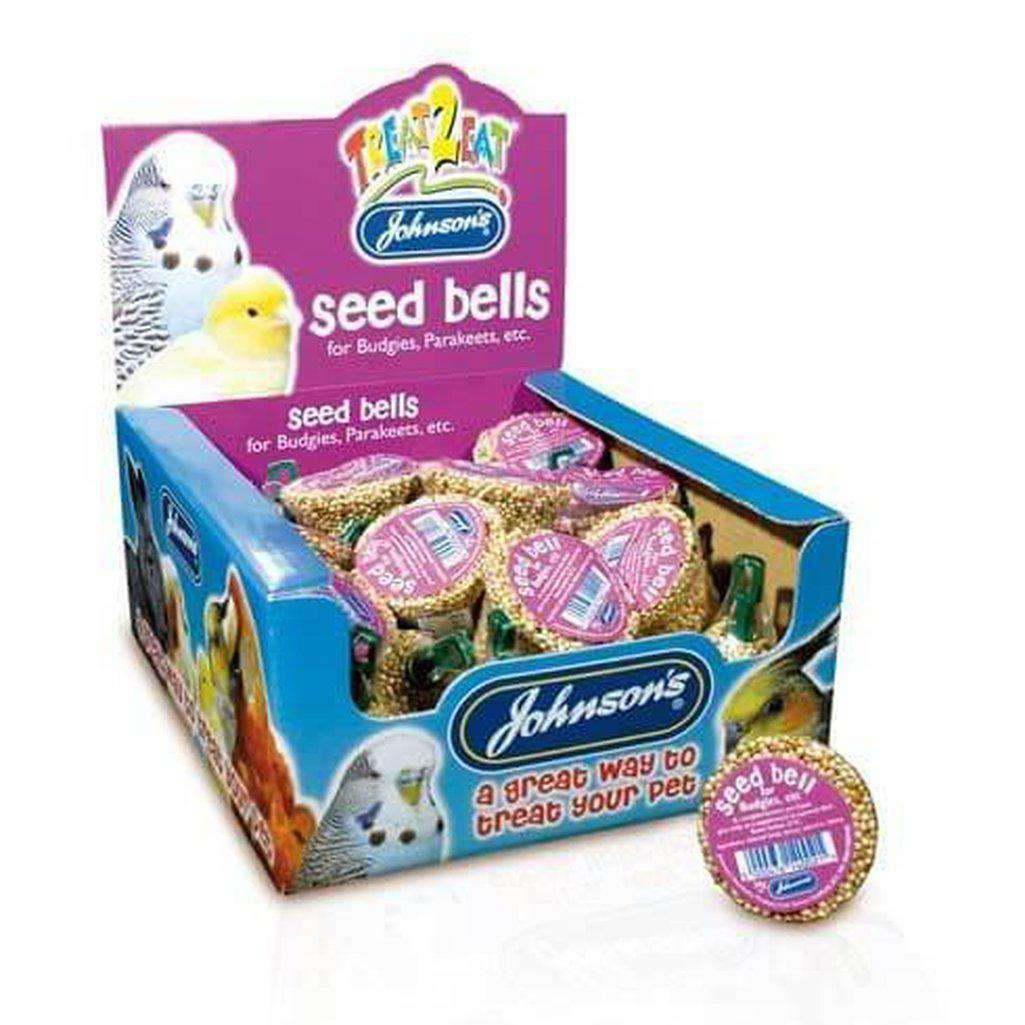 Johnson's Seed Bell For Budgies And Parakeets 34g-Bird Treats-Johnson's-Dofos Pet Centre