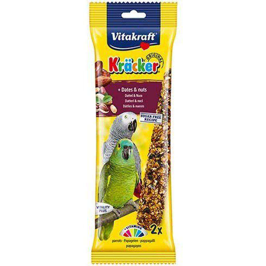 Vitakraft Kracker Dates & Nuts Parrot Sticks 183g-Bird Treats-Vitakraft-Dofos Pet Centre