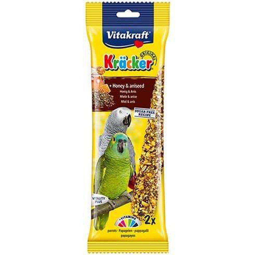 Vitakraft Kracker Honey & Aniseed Parrot Sticks 183g-Bird Treats-Vitakraft-Dofos Pet Centre