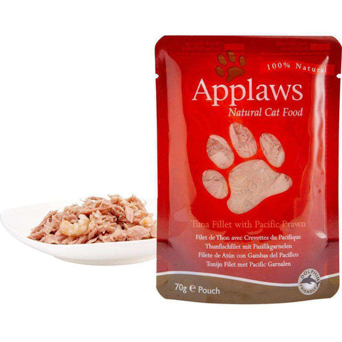 Applaws Natural Pouch Tuna with Pacific Prawn in Broth Wet Cat Food 70g