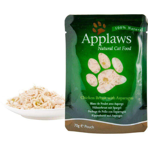Applaws Natural Pouch Chicken with Asparagus in Broth Wet Cat Food 70g