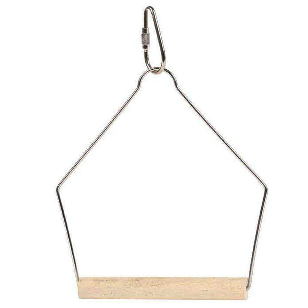 The Bird House Wooden Swing-Bird Toys-happy pet-Dofos Pet Centre