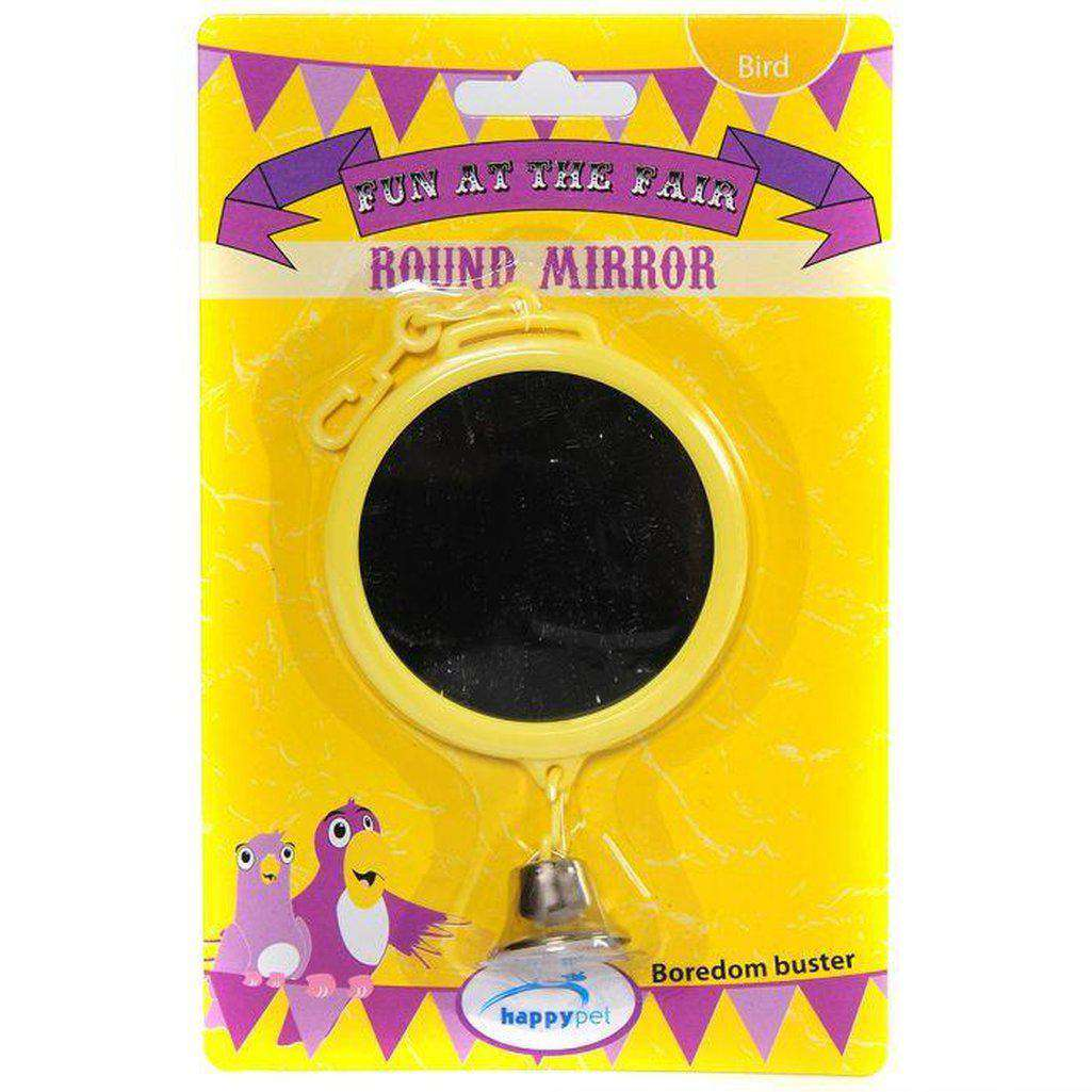 The Bird House Round Bird Mirror-Bird Toys-happy pet-Dofos Pet Centre