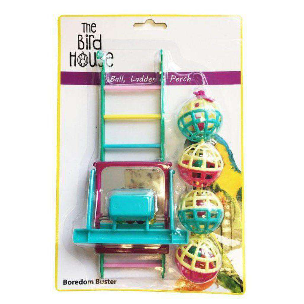 The Bird House Bird Toy Multipack Ball/Ladder/Perch-Bird Toys-happy pet-Dofos Pet Centre