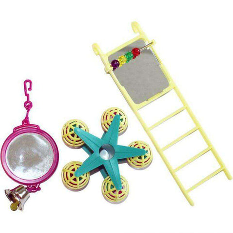 Fun at the Fair Bird Toy Multipack Mirror/Ladder/Carousel