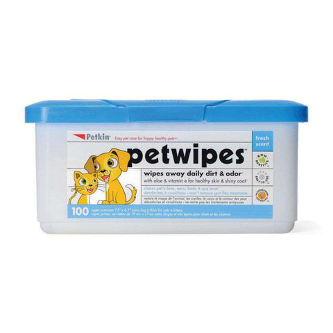 Petkin Petwipes Dog & Cat Wipes 100 per pack