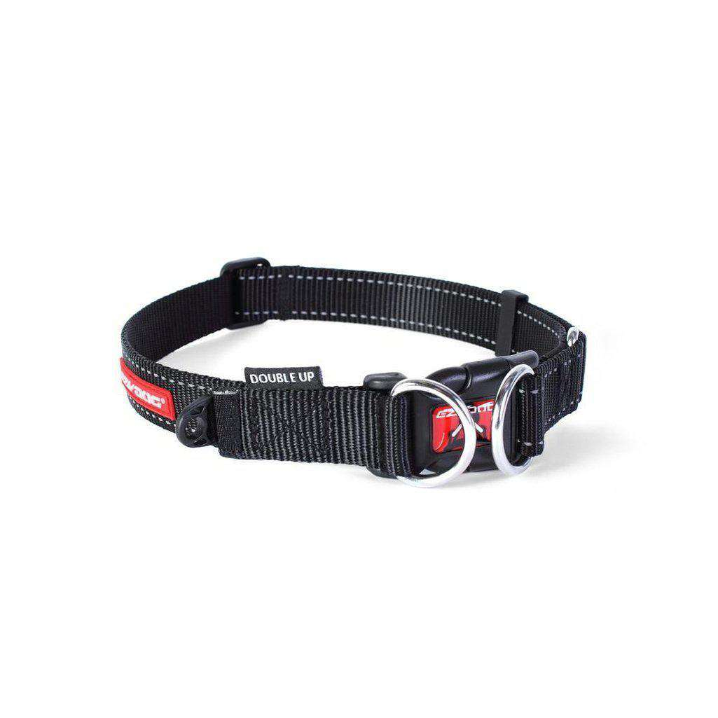 EzyDog Double Up Dog Collar - All Colours-Dog Collar-Ezydog-S-Black-Dofos Pet Centre