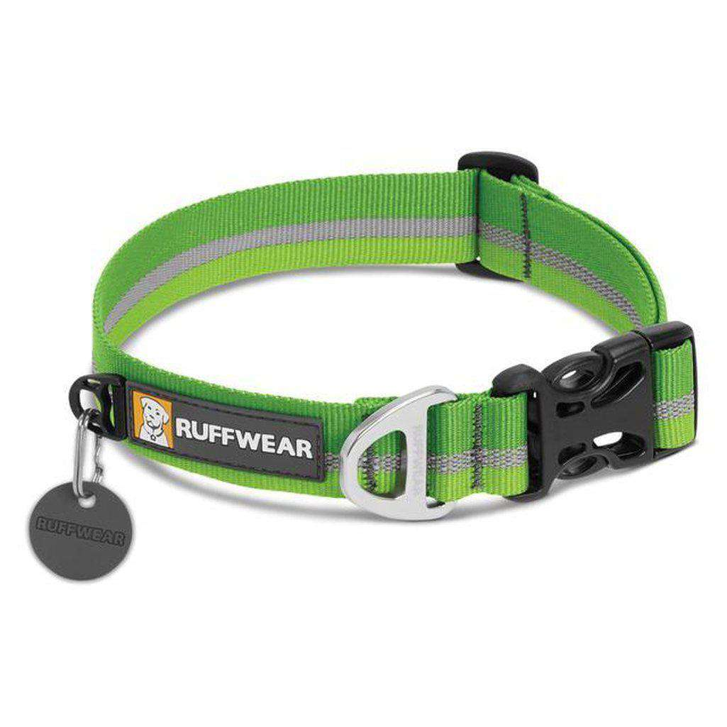 Ruffwear Crag Dog Collar - Multiple Colour Options-Dog Collar-Ruffwear-S-Meadow Green-Dofos Pet Centre