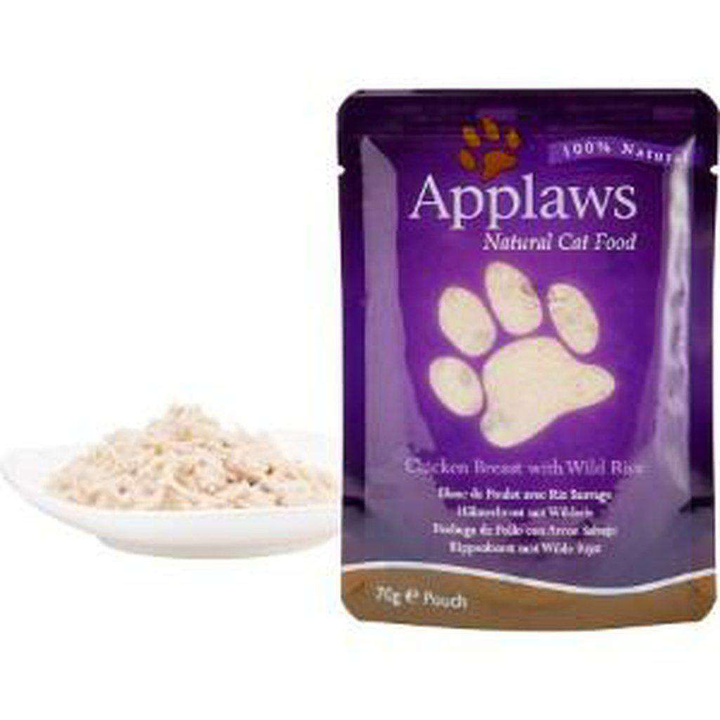 Applaws Natural Pouch Chicken with Rice in Broth Wet Cat Food 70g