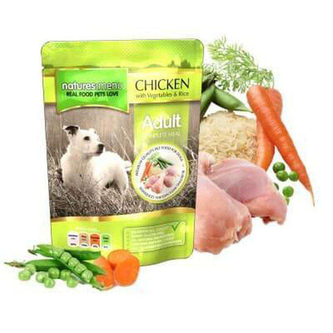 Natures Menu Chicken with Vegetables & Rice Dog Food Pouch 300g