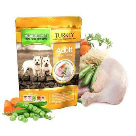 Natures Menu Turkey with Chicken Food Pouch 300g