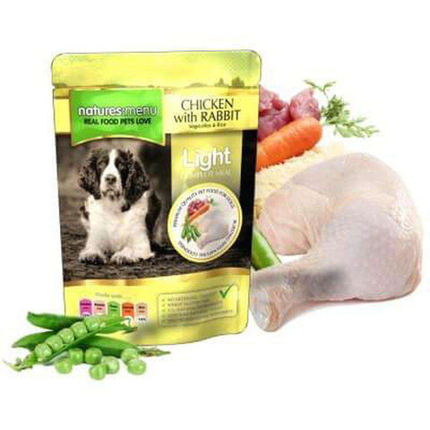 Natures Menu Light Chicken with Rabbit Dog Food Pouch 300g