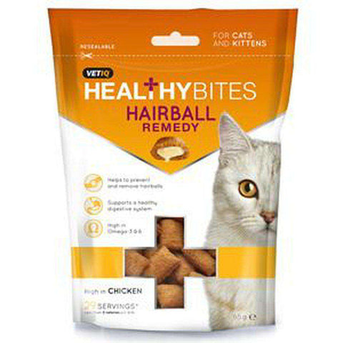 VetIQ Healthy Bites Hairball Remedy Cat Treats 65g