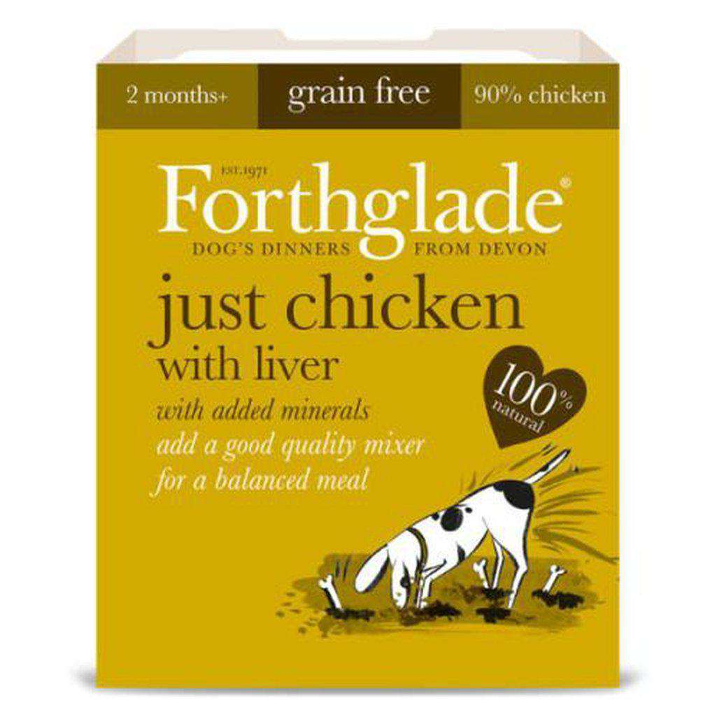 Forthglade Just Chicken with Liver Wet Dog Food 395g-Dog Wet Food-Forthglade-Dofos Pet Centre
