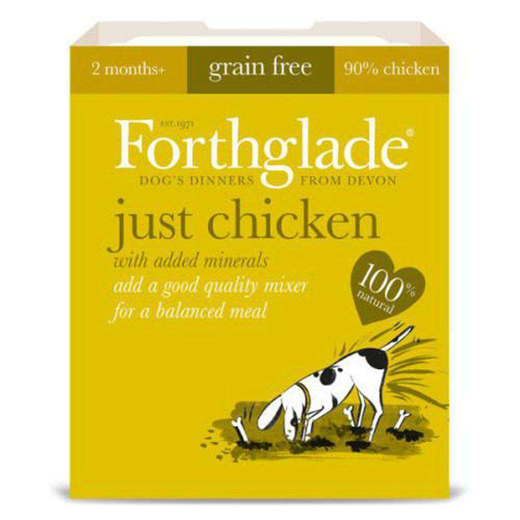 Forthglade Just Chicken Wet Dog Food 395g-Dog Wet Food-Forthglade-Dofos Pet Centre