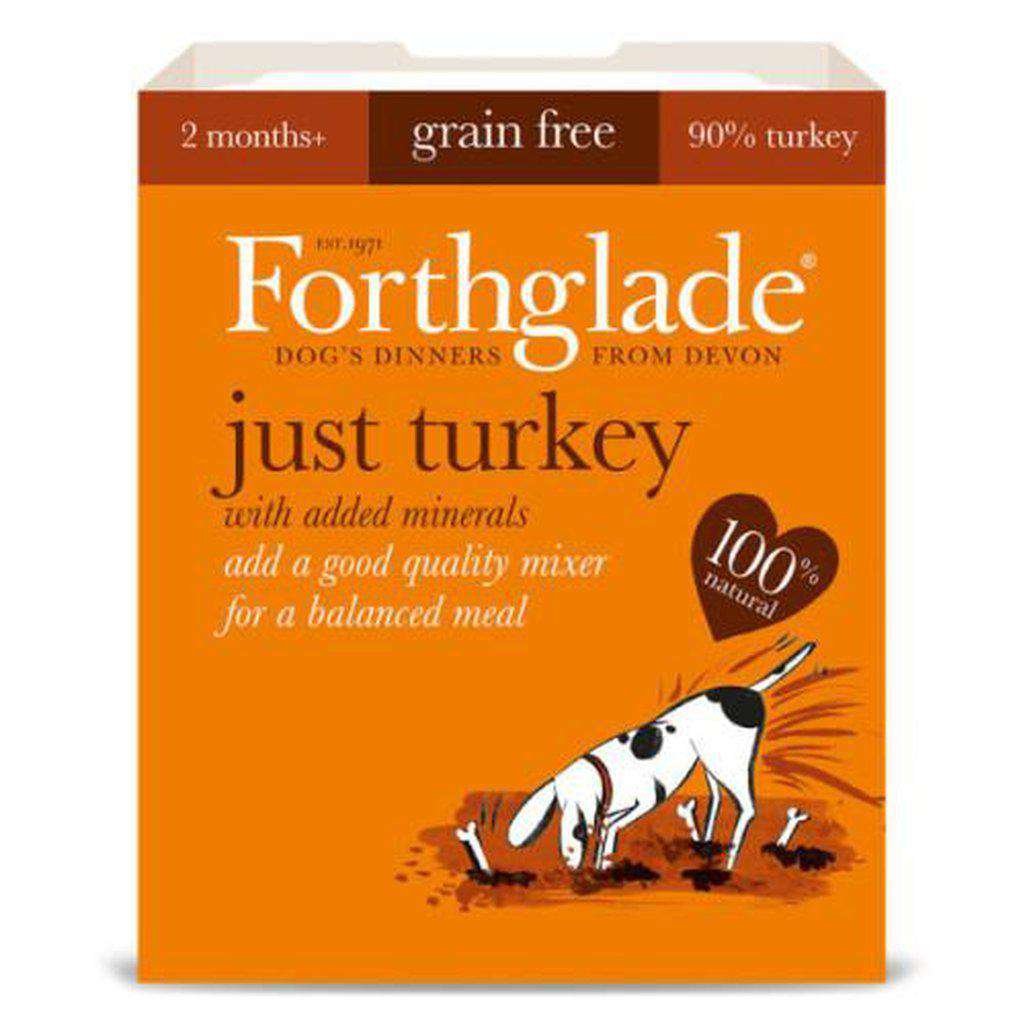Forthglade Just Turkey Grain Free Wet Dog Food 395g-Dog Wet Food-Forthglade-Dofos Pet Centre