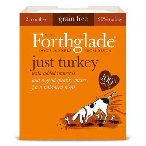 Forthglade Just Turkey Grain Free Wet Dog Food 395g