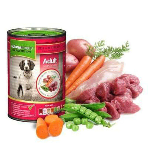 Natures Menu Beef with Chicken Dog Food Can 400g