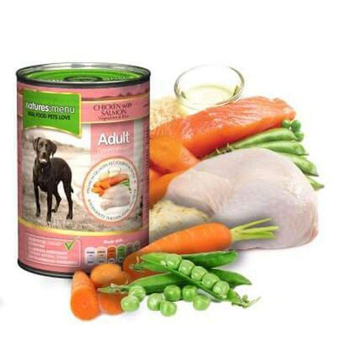 Natures Menu Chicken with Salmon Dog Food Can