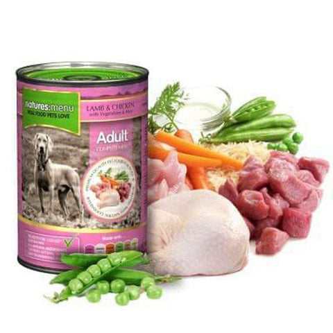 Natures Menu Lamb with Chicken Dog Food Can