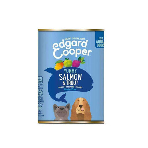 Edgard & Cooper Adult Grain Free Wet Dog Food with Salmon & Trout 400g