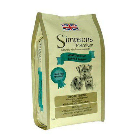 Simpsons Premium Adult Sensitive Lamb & Potato Grain Free Dog Food