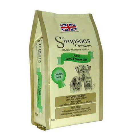 Simpsons Premium Adult Lamb & Brown Rice Dog Food