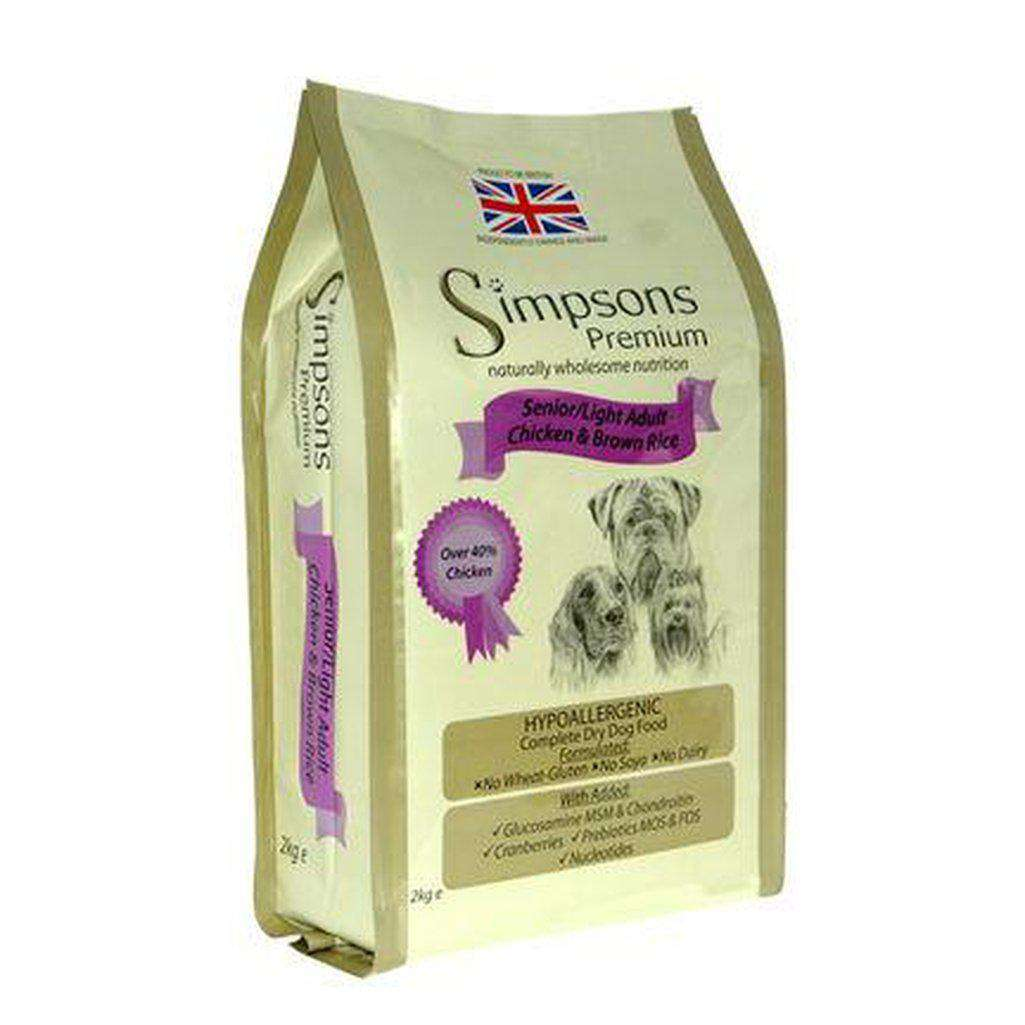 Simpsons Premium Complete Senior/Light Chicken & Brown Rice Dog Food-Dog Dry Food-Simpsons-2kg-Dofos Pet Centre